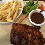 yum!! half rack of Ribs with our signature BBQ sauce.