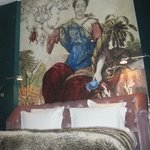                    Mural above our bed.