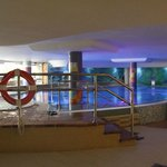 The heated pool in the spa