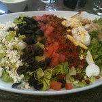 Best Cobb Salad enjoyed on the Hotel Terrace
