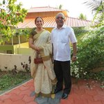 Nileena and Pradeep Kumar.  Wonderful, generous hosts.