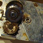                    Rusted can openers