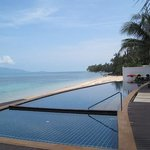                    infinity pool and beach