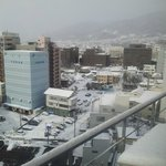 View from Sunroute Nagano Hotel room