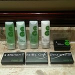                    Fragrant toiletries