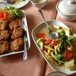 Fish Cake and mix vegetables