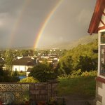 Double Rainbows from our patio