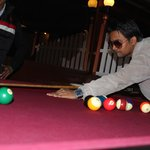                    my friend siddharth/ playing pool at hottmillion2