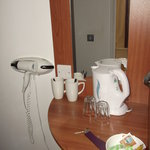 Premier Inn,tea and coffee facilities.