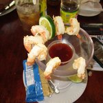 Awesome shrimp cocktail at the restaurant, kind of expensive