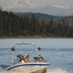  View of Lassen and Ski Boat