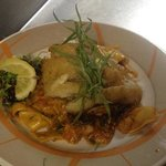 seafood bolognese with red snapper