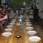                    Chely made Christmas Dinner for everyone at the hostel, it was great!