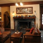                    Main sitting area and fireside dining