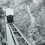 Funicular in the snow