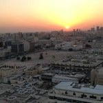 Doha sunset from the rooftop