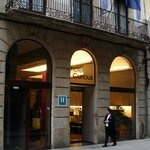                    The hotel entrance on Carme