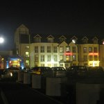                    Hotel with full moon