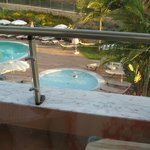 Balcony overlooking the pool and childrens pool