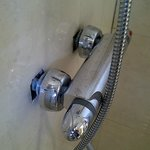                    this is not the quality of a four star hotel shower!