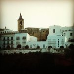 Vejer la Frontera, the view of the city from the walking path (we walked there