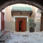                    Entrance to peaceful haven of Riad Maya!