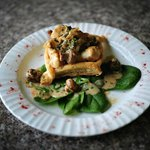Braised Chicken and Mushrooms Vol au Vent