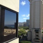                    View of Diamond Head through the urban canyon