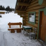                    Front porch of Strom Cabin