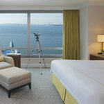 Executive Statue of Liberty view suite bedroom