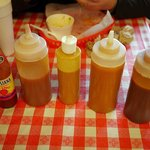 Hand crafted BBQ sauce options.
