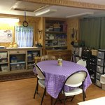 Upstairs features a crafting area, with games as well.