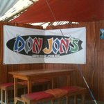                    the banner at the restaurant area