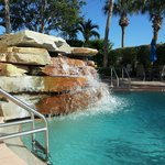Hilton pool waterfall