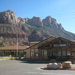 View of the hotel from Zion Park Blvd