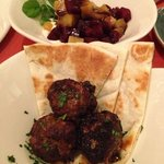 Greek meatballs (without tzatziki) and beets