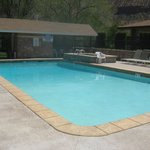  Outdoor heated pool with an in-ground hot tub. Perfect after a day in the park!