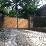 cobblestone road and the exterior gate - remote and private