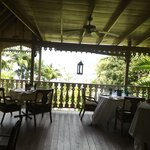                    veranda outside dining area