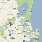 Google map of our position to Noosa