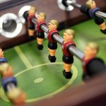 Table foot ball in the games room