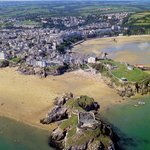 Aerial view of Tenby Harbour