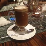 Irish coffee au restaurant de l'hôtel