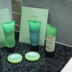 Luxury toiletries in each room