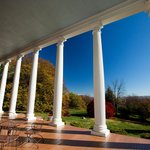  The Grand Portico offers views of the Blue Ridge Mountains.