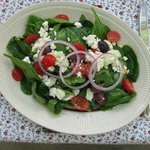 Delicious Greek salad.