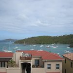 View of Cruz Bay from our Studio Balcony