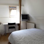 2-person room with double bed, shared toilet & bathroom