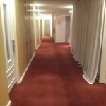 The floors: carpeted
