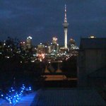                    Night view of downtown Auckland from the first floor at the Ponsonby Manor